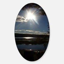 Sun Over Palmers Landing Sticker (Oval)