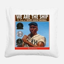Nelson_WeAretheShipBook.medal Square Canvas Pillow