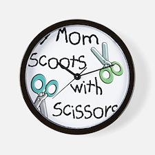 ScissorsMom10x10 Wall Clock