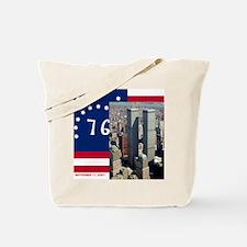 WTC-Complex-Atop-Bennington-Flag-14b14 Tote Bag
