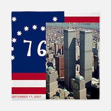 WTC-Complex-Atop-Bennington-Flag-14b14 Queen Duvet