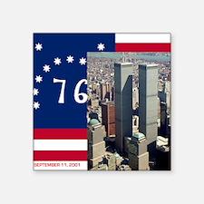 "WTC-Complex-Atop-Bennington Square Sticker 3"" x 3"""