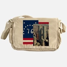 WTC-Complex-Atop-Bennington-Flag-14b Messenger Bag