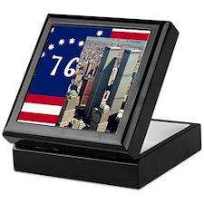WTC-Complex-Atop-Bennington-Flag-14b1 Keepsake Box