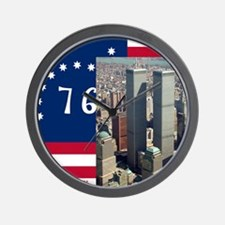 WTC-Complex-Atop-Bennington-Flag-14b14 Wall Clock