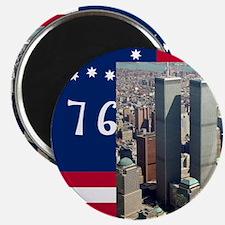 WTC-Complex-Atop-Bennington-Flag-14b14 Magnet