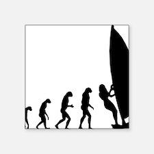 """evolution surfing9 Square Sticker 3"""" x 3"""""""