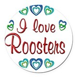 Rooster Round Car Magnets