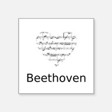 "Beethoven pillow Square Sticker 3"" x 3"""