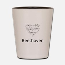 Beethoven pillow Shot Glass