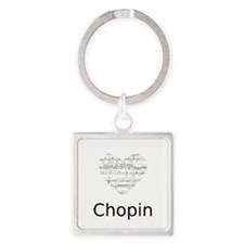Chopin pillow Square Keychain