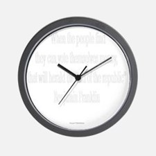 Vote Themselves Money - Benjamin Frankl Wall Clock