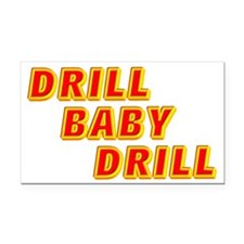DRILL BABY Rectangle Car Magnet