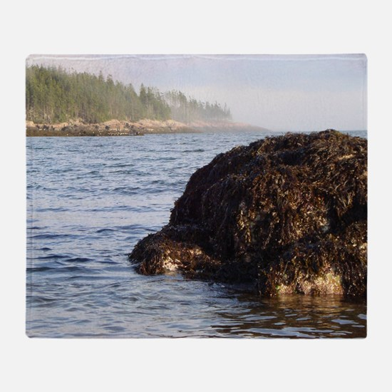 Rugged Maine Coast Throw Blanket