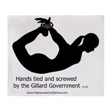 Screwed by-Gillard Govt-Female Throw Blanket