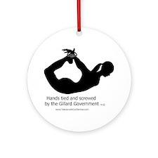 Screwed by-Gillard Govt-Female Round Ornament