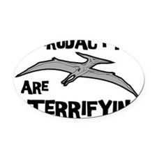 Pterodactyls Oval Car Magnet