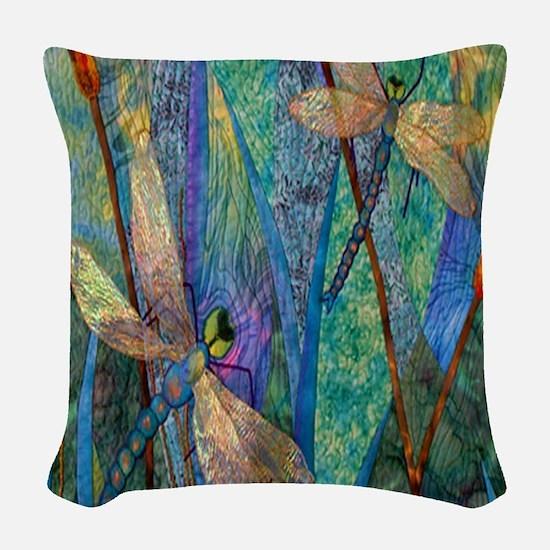 DRAGONFLIES Woven Throw Pillow