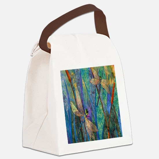 DRAGONFLIES Canvas Lunch Bag