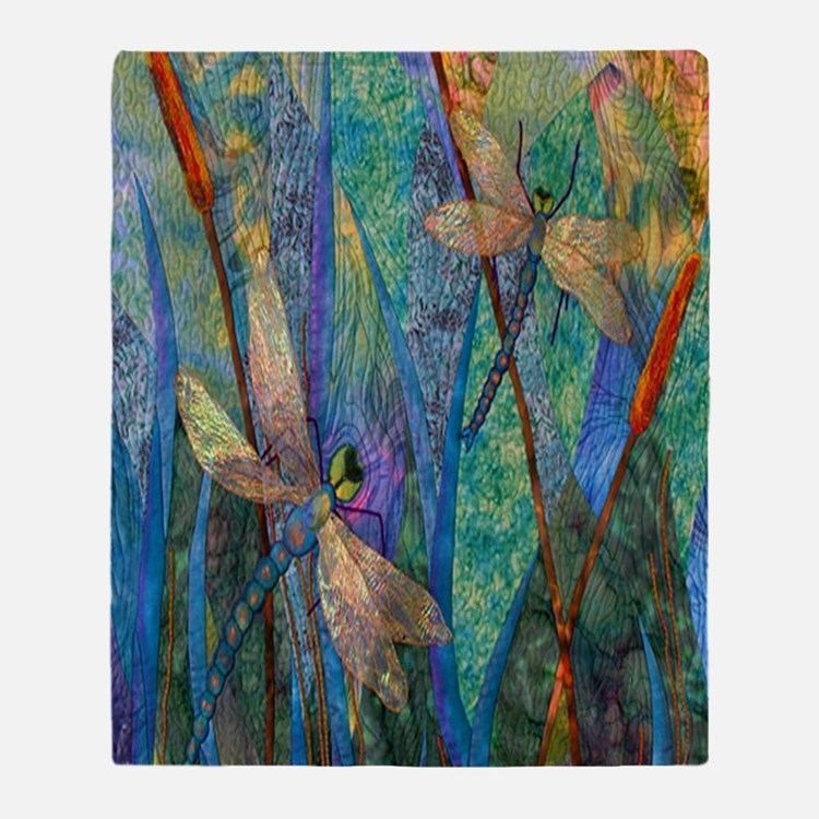DRAGONFLIES Throw Blanket