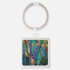 DRAGONFLIES Square Keychain