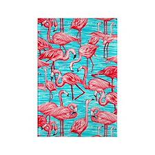 Flamingos Rectangle Magnet