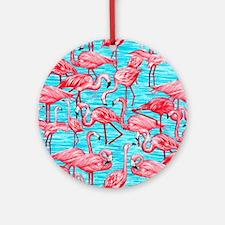 Flamingos Round Ornament