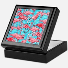 Flamingos Keepsake Box