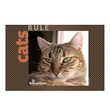 Cats Rule Stadium Blanket Postcards (Package of 8)