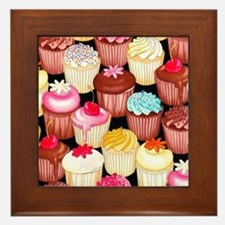 yumming cupcakes Framed Tile