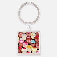 yumming cupcakes Square Keychain