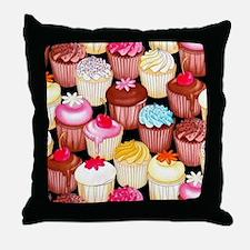 yumming cupcakes Throw Pillow