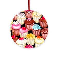 yumming cupcakes Round Ornament