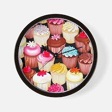 yumming cupcakes Wall Clock