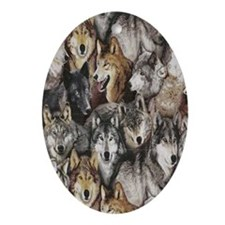 wolves Oval Ornament