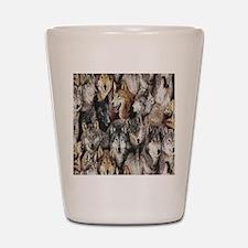 wolves Shot Glass