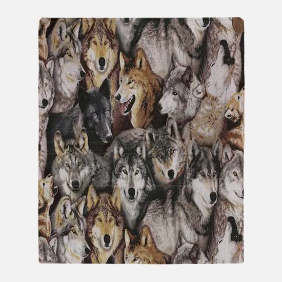wolves Throw Blanket