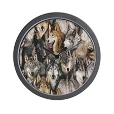 wolves Wall Clock