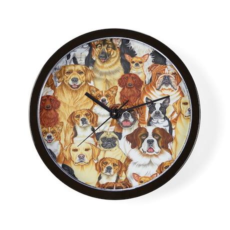 dog-c7943-multi Wall Clock