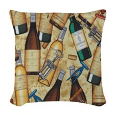 wine Woven Throw Pillow