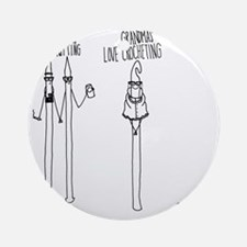 Hipsters Mouse Pad Round Ornament
