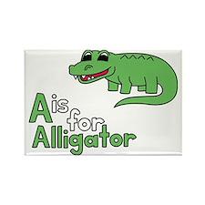105 Alligator Rectangle Magnet