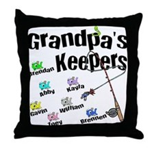Email Me First For Grandpas Keepers Throw Pillow