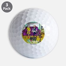 1548_dog_cartoon Golf Ball