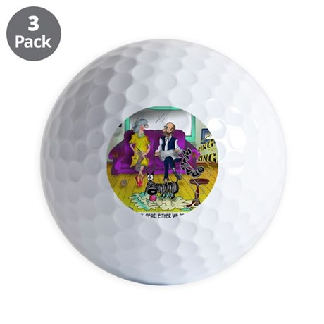 1548_dog_cartoon Golf Balls