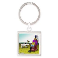 2709_disabled_cartoon Square Keychain