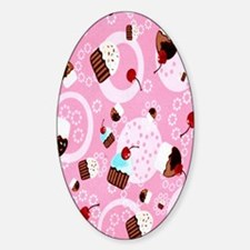cupcakes Sticker (Oval)