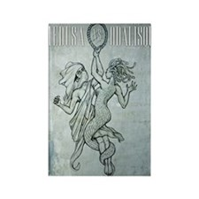 Medusa-vs-Odalisque poster Rectangle Magnet