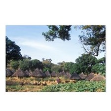 Pots sitting in a field m Postcards (Package of 8)