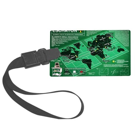 Eschaton-final-flat-hi-res Large Luggage Tag